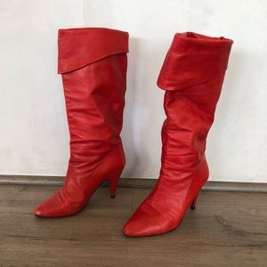 ALBERTO D. MOLINA ~ vintage red leather boots